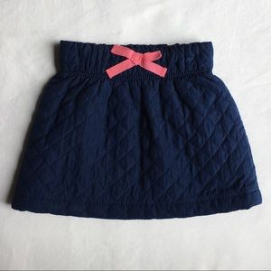 Girls skirt size 12 18 months quilted navy blue